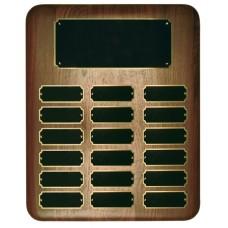 18 Plate Elliptical Walnut Perpetual Plaque