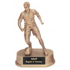 Resin Male Soccer Trophy