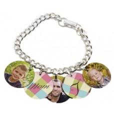 Silver Photo Charm Bracelet