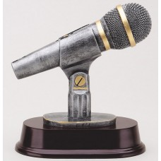 Microphone Resin Sculpture