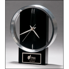 Modern Black and Silver Clock