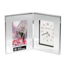 Silver Clock with Frame