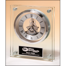 Glass Skeleton Clock