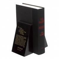 Jet Black Marble Bookends