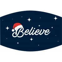 Believe Santa Face Mask