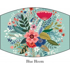 Blue Blooms Face Mask
