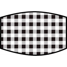 Buffalo Check Black and White Face Mask