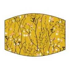 Mustard Floral Face Mask