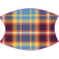 Light Blue Tartan Face Mask