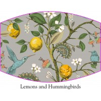 Lemons and hummingbirds Face Mask