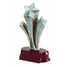 Silver Shooting Star Resin Figure