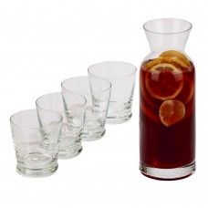 5 Piece Carafe Set with 4 Glasses