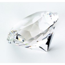 Clear Optic Diamond Paperweight
