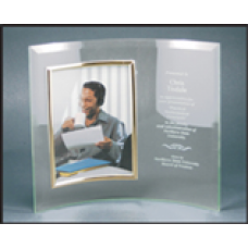 Glass Crescent with Picture Frame