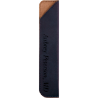 Blue Leatherette Pen Sleeve
