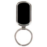 Rectangle Black Laserable Keychain