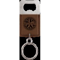 Dark Brown Bottle Opener Keychain