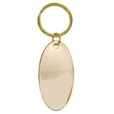 Oval Brass Keyring