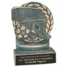 Wreath Resin Soccer Trophy