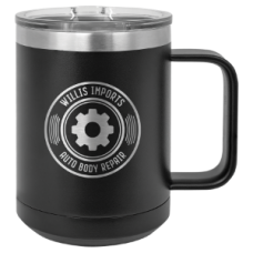 15 oz. Polar Camel Black Mug