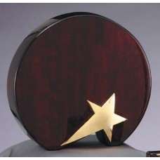 Round Rosewood Award with Star