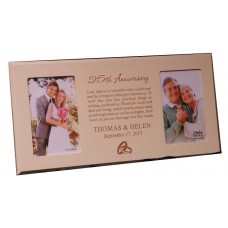 Ivory Frame with Two Pictures