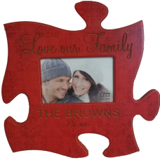 Red Puzzle Piece Frame