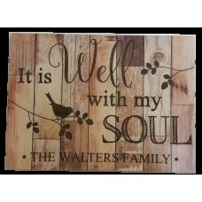 Dark Barn Wood Soul Sign