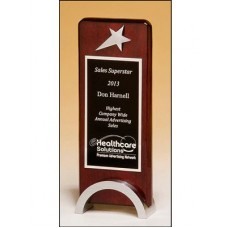Rosewood Piano Finish Award with Chrome Plated Star