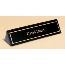 Black Desktop Nameplate