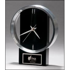 Modern Black and Silver Clock