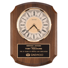 Walnut Plaque Clock