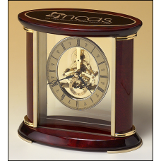 Rosewood Skeleton Clock