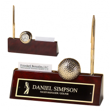 Golf rosewood piano finish nameplate