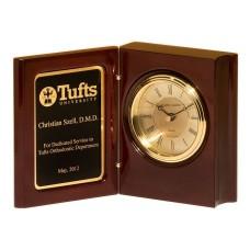 High Gloss Rosewood Book Clock