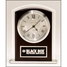 Black Glass Clock with Alarm
