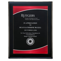Black Piano Finish Plaque with Acrylic Plate