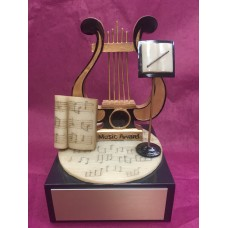 Music Lyre Resin Trophy